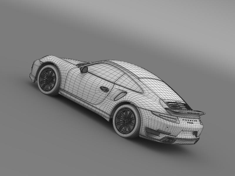 porsche 911 turbo 2013 3d model 3ds max fbx c4d lwo ma mb hrc xsi obj 156089