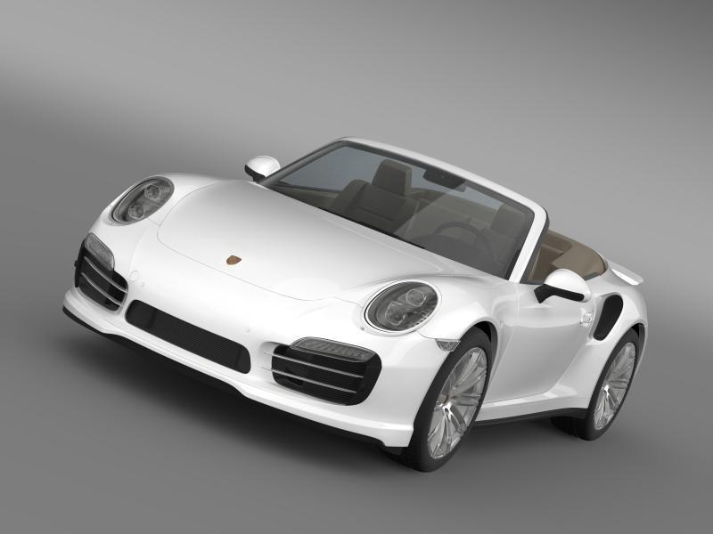 porsche 911 turbo cabrio 2014 3d model 3ds max fbx c4d lwo ma mb hrc xsi obj 156090