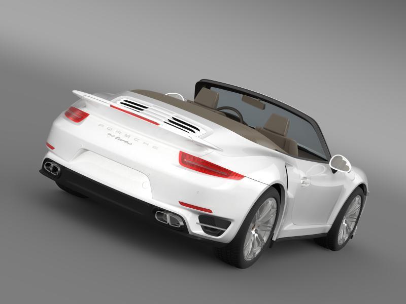 porsche 911 turbo cabrio 2014 3d model 3ds max fbx c4d lwo ma mb hrc xsi obj 156091