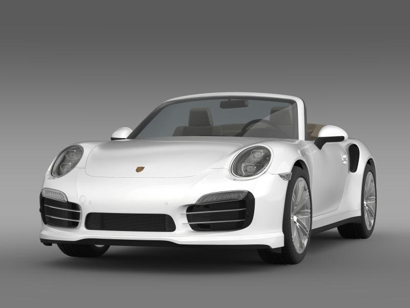 porsche 911 turbo cabrio 2014 3d model 3ds max fbx c4d lwo ma mb hrc xsi obj 156092