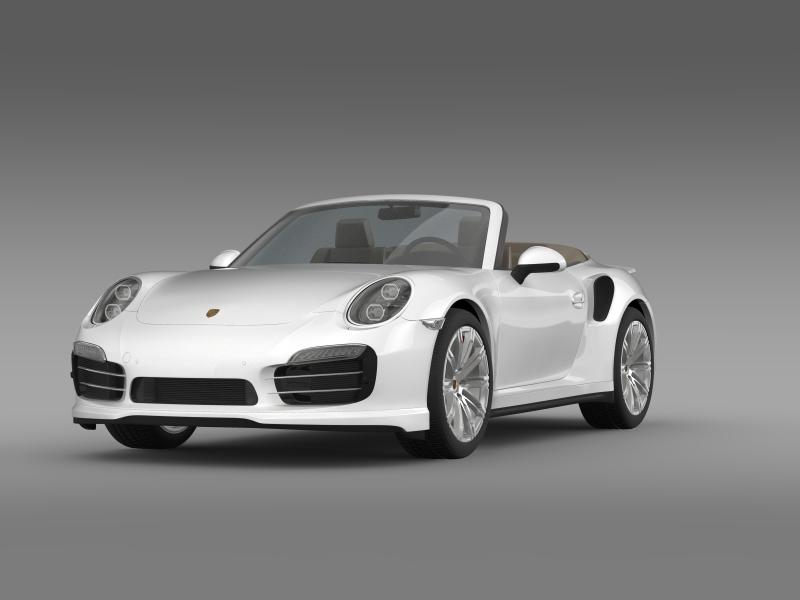 porsche 911 turbo cabrio 2014 3d model 3ds max fbx c4d lwo ma mb hrc xsi obj 156093