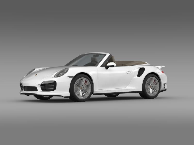 porsche 911 turbo cabrio 2014 3d model 3ds max fbx c4d lwo ma mb hrc xsi obj 156094