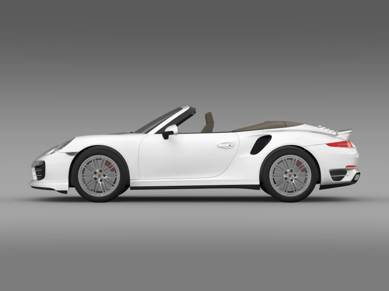 porsche 911 turbo cabrio 2014 3d model 3ds max fbx c4d lwo ma mb hrc xsi obj 156095