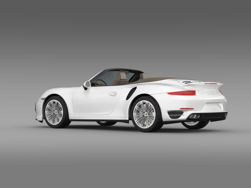 porsche 911 turbo cabrio 2014 3d model 3ds max fbx c4d lwo ma mb hrc xsi obj 156096