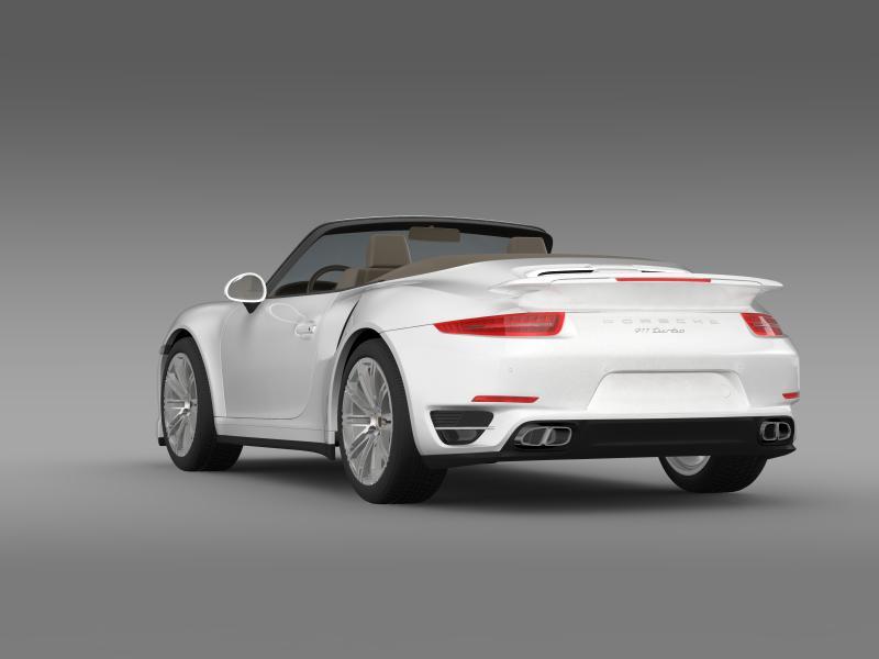 porsche 911 turbo cabrio 2014 3d model 3ds max fbx c4d lwo ma mb hrc xsi obj 156097