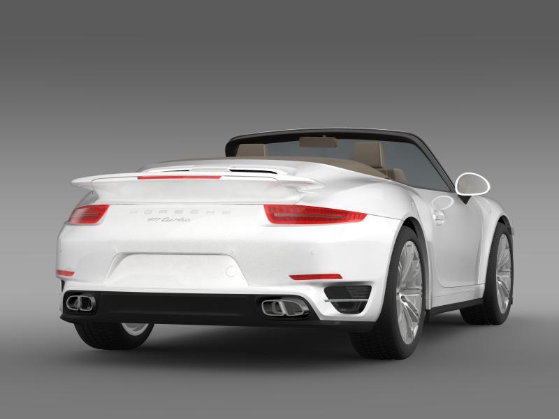 porsche 911 turbo cabrio 2014 3d model 3ds max fbx c4d lwo ma mb hrc xsi obj 156098