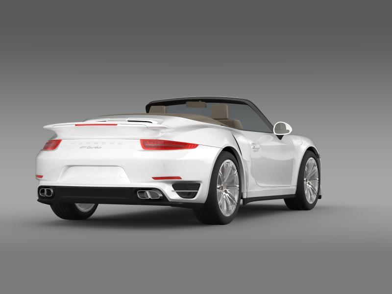 porsche 911 turbo cabrio 2014 3d model 3ds max fbx c4d lwo ma mb hrc xsi obj 156099