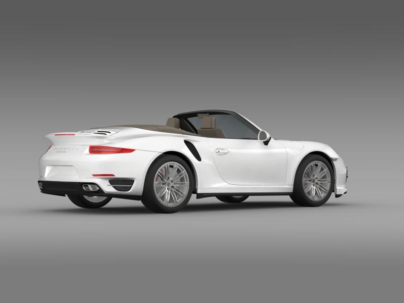 porsche 911 turbo cabrio 2014 3d model 3ds max fbx c4d lwo ma mb hrc xsi obj 156100