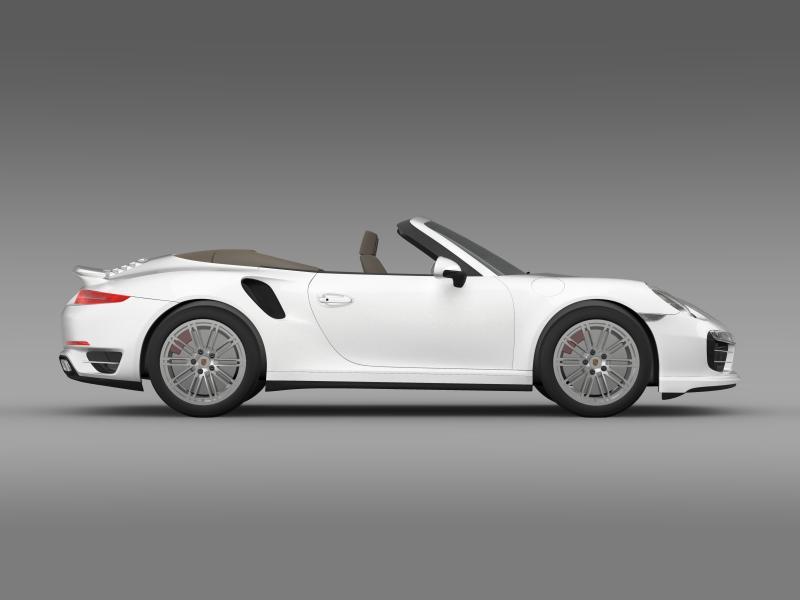 porsche 911 turbo cabrio 2014 3d model 3ds max fbx c4d lwo ma mb hrc xsi obj 156101