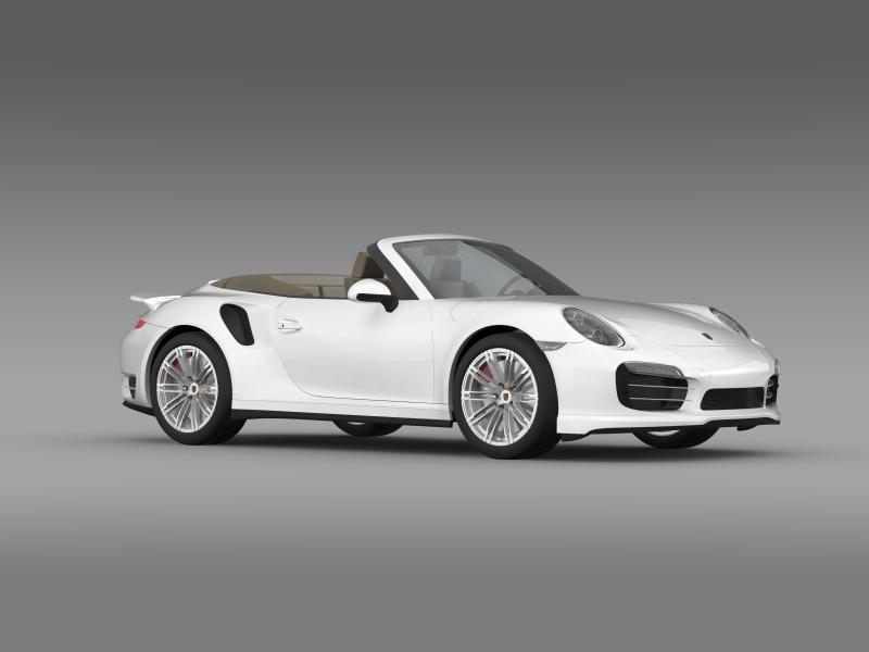 porsche 911 turbo cabrio 2014 3d model 3ds max fbx c4d lwo ma mb hrc xsi obj 156102