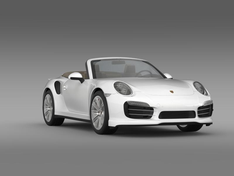 porsche 911 turbo cabrio 2014 3d model 3ds max fbx c4d lwo ma mb hrc xsi obj 156103