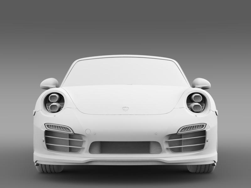 porsche 911 turbo cabrio 2014 3d model 3ds max fbx c4d lwo ma mb hrc xsi obj 156104