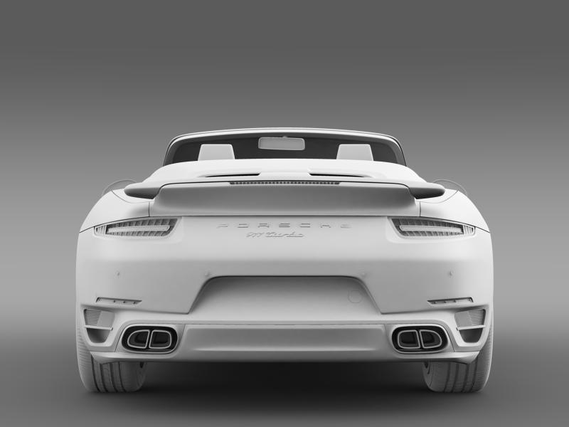 porsche 911 turbo cabrio 2014 3d model 3ds max fbx c4d lwo ma mb hrc xsi obj 156105