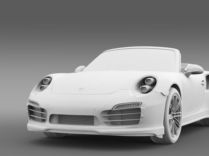 porsche 911 turbo cabrio 2014 3d model 3ds max fbx c4d lwo ma mb hrc xsi obj 156106