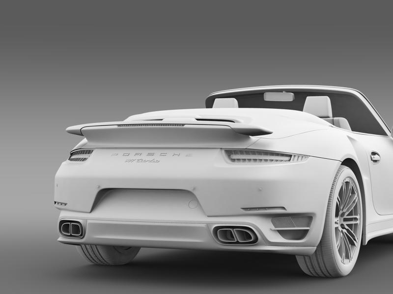 porsche 911 turbo cabrio 2014 3d model 3ds max fbx c4d lwo ma mb hrc xsi obj 156107