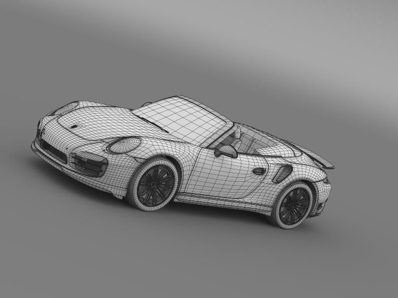 porsche 911 turbo cabrio 2014 3d model 3ds max fbx c4d lwo ma mb hrc xsi obj 156108