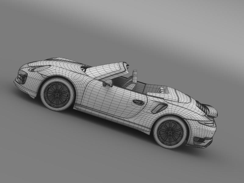 porsche 911 turbo cabrio 2014 3d model 3ds max fbx c4d lwo ma mb hrc xsi obj 156109