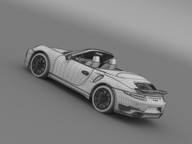 porsche 911 turbo cabrio 2014 3d model 3ds max fbx c4d lwo ma mb hrc xsi obj 156110