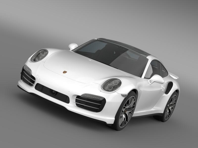 porsche 911 turbo s 2013 3d model 3ds max fbx c4d lwo ma