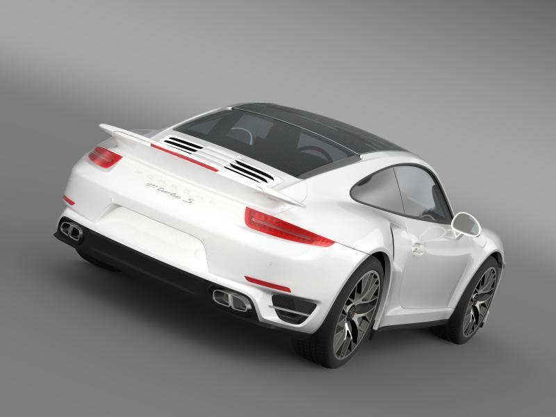 porsche 911 turbo s 2013 3d model 3ds max fbx c4d lwo ma mb hrc xsi obj 156112