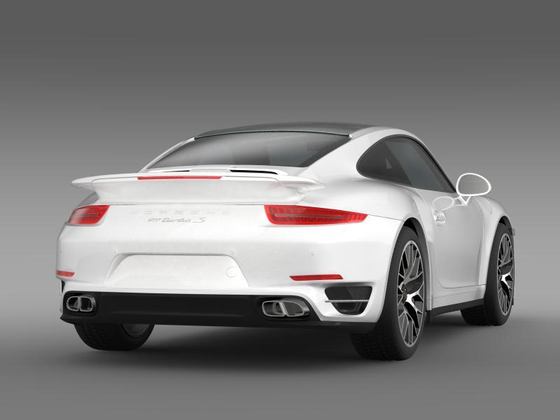 porsche 911 turbo s 2013 3d model 3ds max fbx c4d lwo ma mb hrc xsi obj 156119