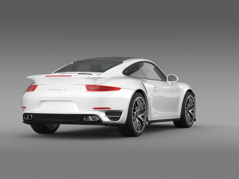 porsche 911 turbo s 2013 3d model 3ds max fbx c4d lwo ma mb hrc xsi obj 156120