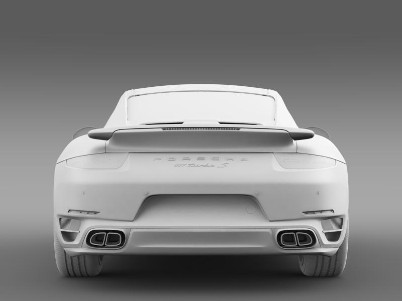 porsche 911 turbo s 2013 3d model 3ds max fbx c4d lwo ma mb hrc xsi obj 156126