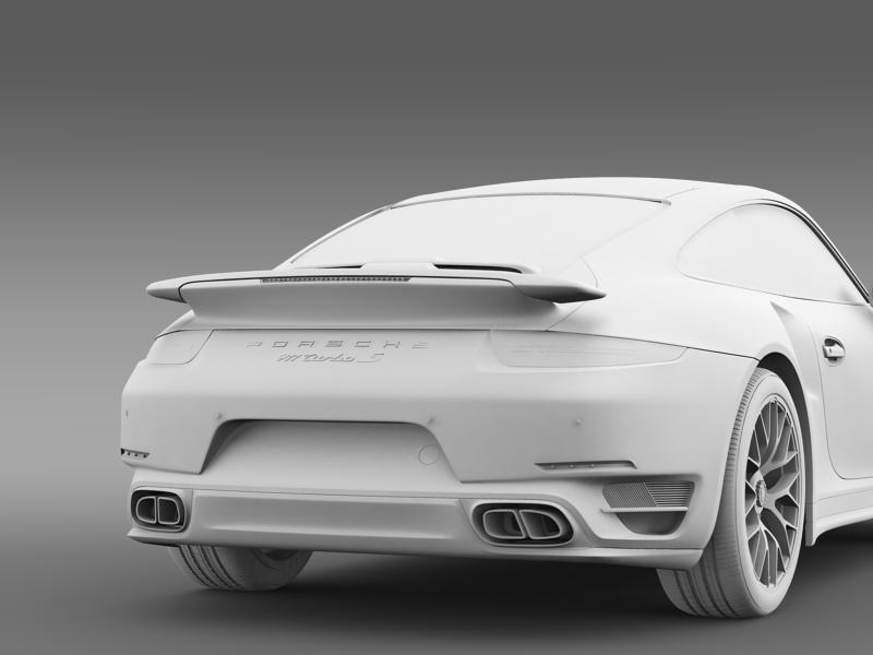 porsche 911 turbo s 2013 3d model 3ds max fbx c4d lwo ma mb hrc xsi obj 156128