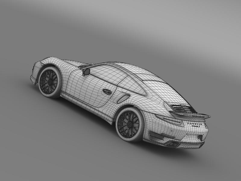 porsche 911 turbo s 2013 3d model 3ds max fbx c4d lwo ma mb hrc xsi obj 156131