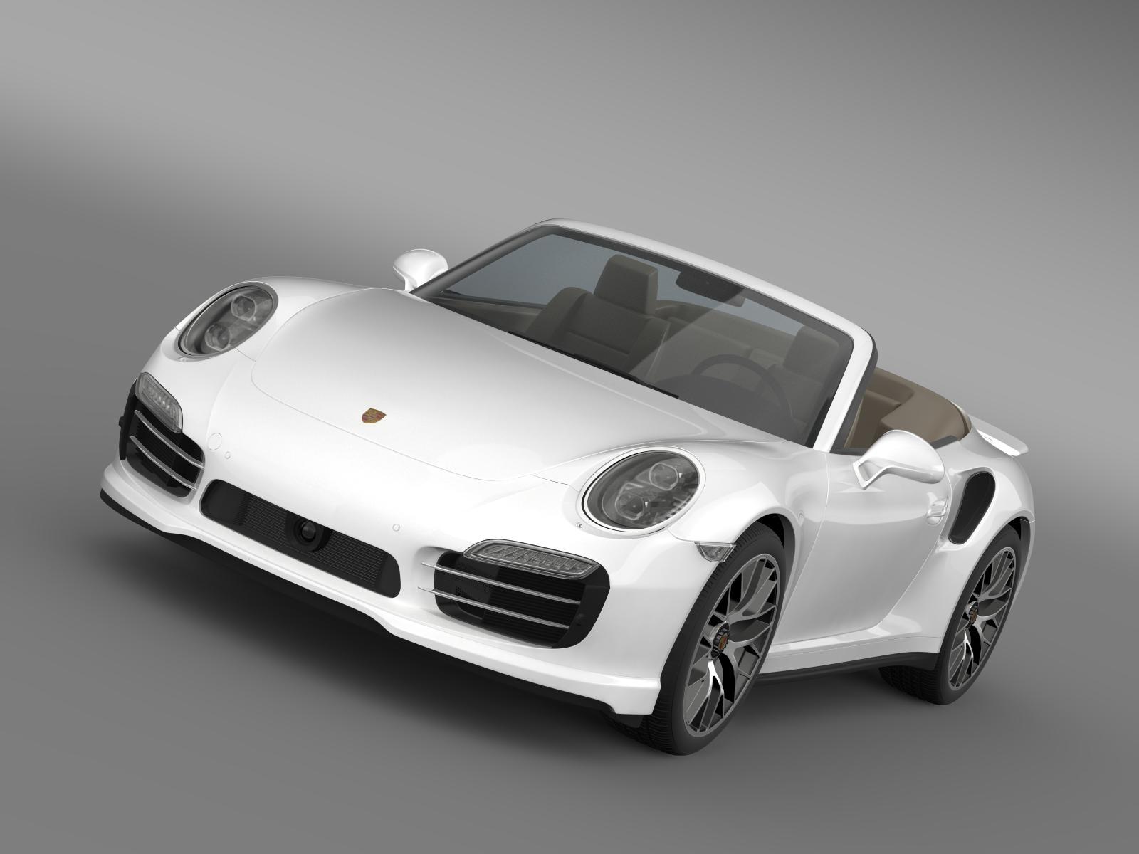 porsche 911 turbo s cabrio 2014 3d model 3ds max fbx c4d lwo ma mb hrc xsi obj 156132