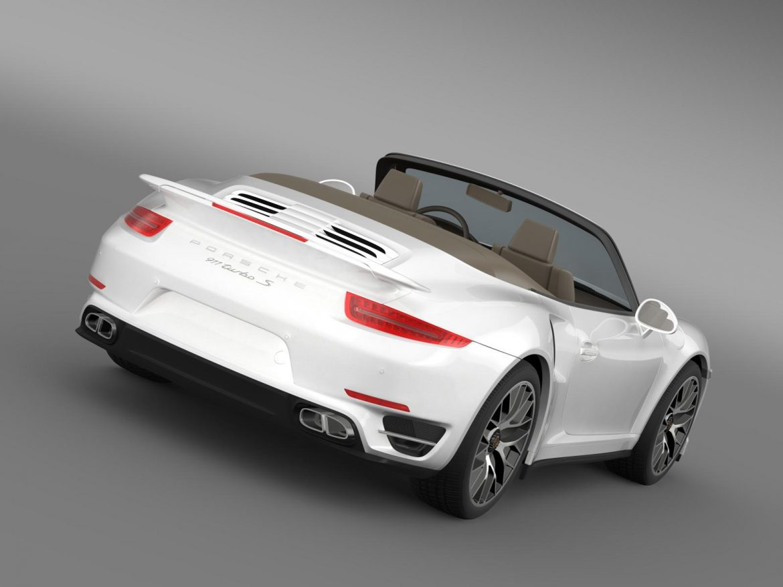 porsche 911 turbo s cabrio 2014 3d model 3ds max fbx c4d lwo ma mb hrc xsi obj 156133