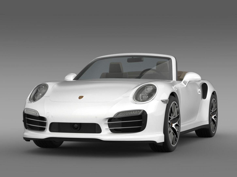porsche 911 turbo s cabrio 2014 3d model 3ds max fbx c4d lwo ma mb hrc xsi obj 156134