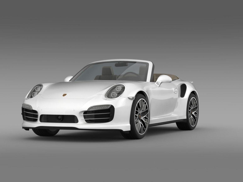 porsche 911 turbo s cabrio 2014 3d model 3ds max fbx c4d lwo ma mb hrc xsi obj 156135