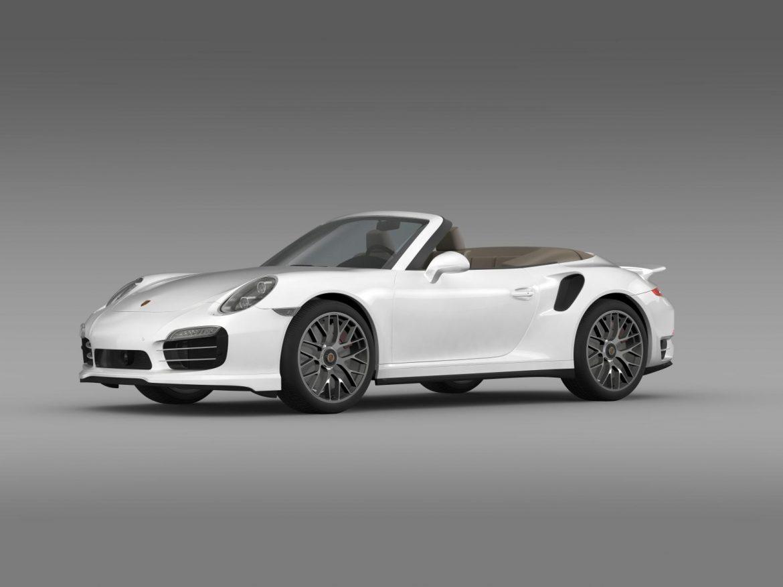 porsche 911 turbo s cabrio 2014 3d model 3ds max fbx c4d lwo ma mb hrc xsi obj 156136