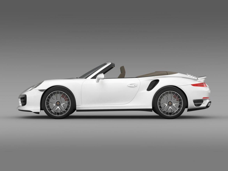 porsche 911 turbo s cabrio 2014 3d model 3ds max fbx c4d lwo ma mb hrc xsi obj 156137
