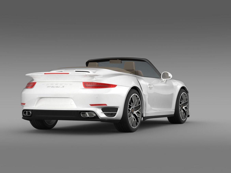 porsche 911 turbo s cabrio 2014 3d model 3ds max fbx c4d lwo ma mb hrc xsi obj 156140
