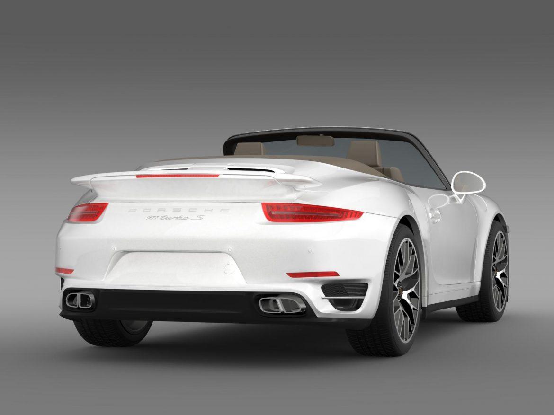 porsche 911 turbo s cabrio 2014 3d model 3ds max fbx c4d lwo ma mb hrc xsi obj 156141