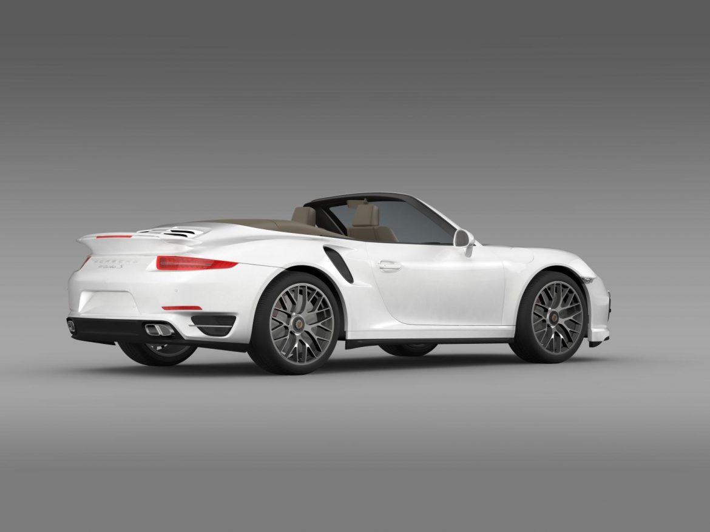 porsche 911 turbo s cabrio 2014 3d model 3ds max fbx c4d lwo ma mb hrc xsi obj 156142