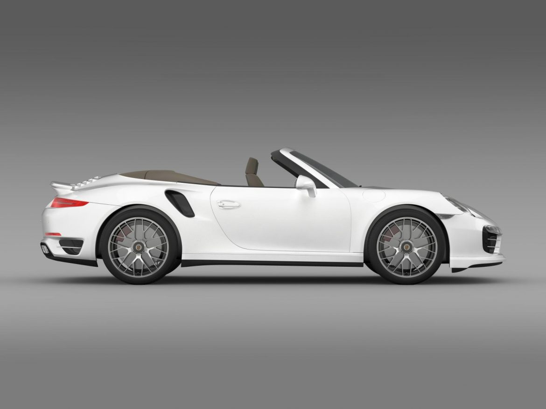 porsche 911 turbo s cabrio 2014 3d model 3ds max fbx c4d lwo ma mb hrc xsi obj 156143