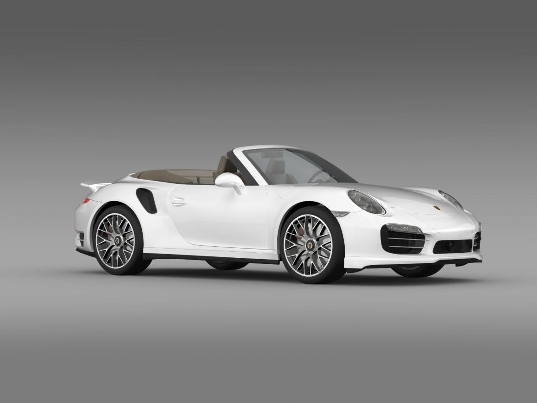 porsche 911 turbo s cabrio 2014 3d model 3ds max fbx c4d lwo ma mb hrc xsi obj 156144
