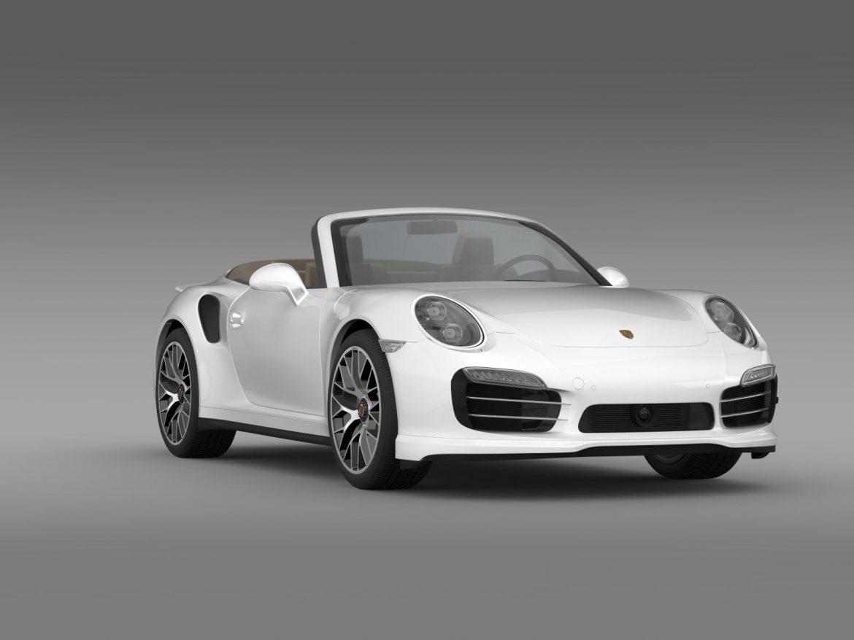 porsche 911 turbo s cabrio 2014 3d model 3ds max fbx c4d lwo ma mb hrc xsi obj 156145