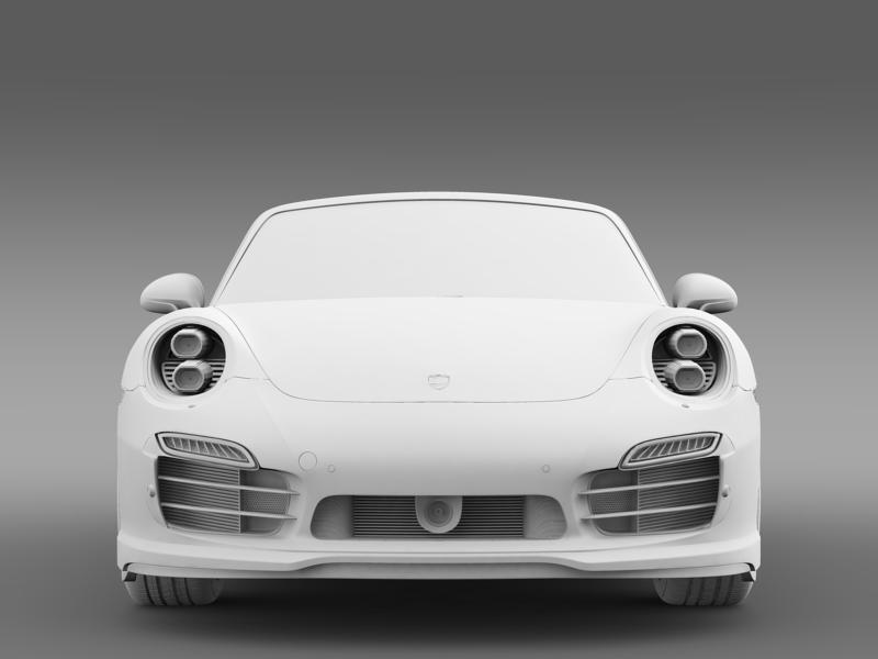 porsche 911 turbo s cabrio 2014 3d model 3ds max fbx c4d lwo ma mb hrc xsi obj 156146
