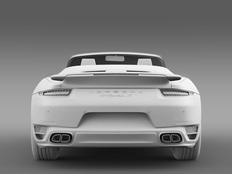 porsche 911 turbo s cabrio 2014 3d model 3ds max fbx c4d lwo ma mb hrc xsi obj 156147