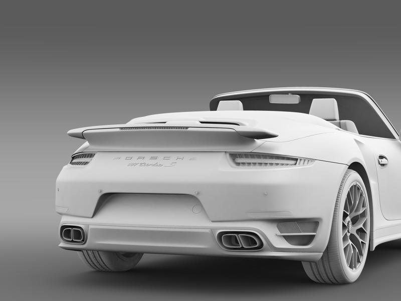 porsche 911 turbo s cabrio 2014 3d model 3ds max fbx c4d lwo ma mb hrc xsi obj 156149