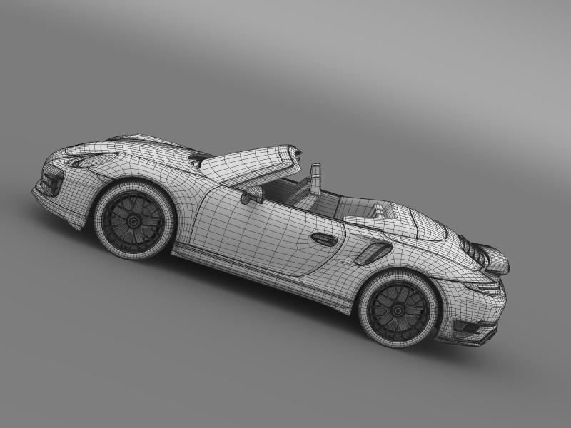 porsche 911 turbo s cabrio 2014 3d model 3ds max fbx c4d lwo ma mb hrc xsi obj 156151