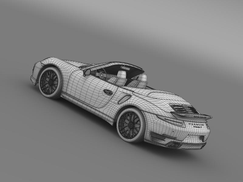 porsche 911 turbo s cabrio 2014 3d model 3ds max fbx c4d lwo ma mb hrc xsi obj 156152