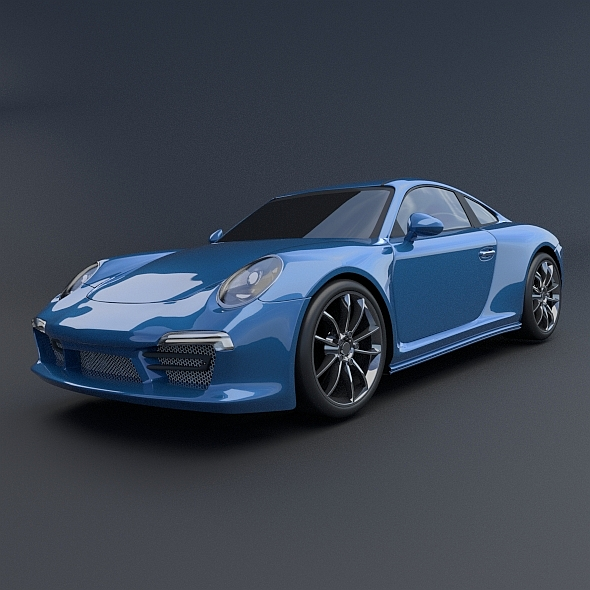 porsche carrera 911 4s 2014 restyled 3d model 3ds fbx blend dae lwo obj 163062