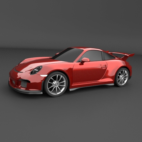 porsche carrera 911 gt 3 sports car restyled 3d model fbx blend obj 159174