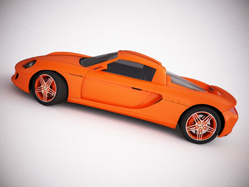 porsche carrera gt 3d model 3ds max bmp jpeg jpg texture obj other 121283