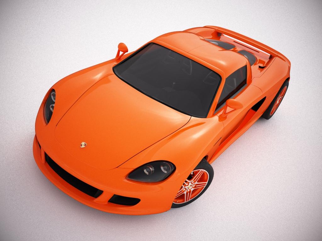 porsche carrera gt 3d model 3ds max bmp jpeg jpg texture obj other 121285